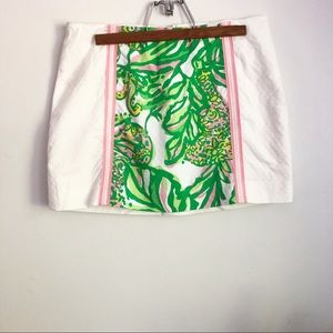 Lilly Pulitzer seeing pink elephants Tate skirt